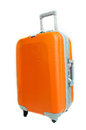 Orange Suitcase Royalty Free Stock Photo