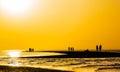 Orange Sunset Over The Sand Sp...