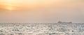 Orange Sunset On Red Sea