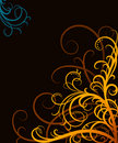 Orange swirls Royalty Free Stock Image