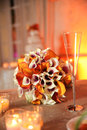 Orange table decor  Stock Photo