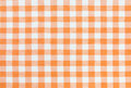 Orange tablecloth pattern and white gingham Royalty Free Stock Photography