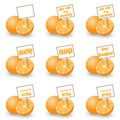 Orange with tag for sale Royalty Free Stock Photography