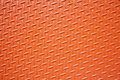 Orange textured steel plate Royalty Free Stock Photography
