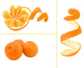 Orange three peel the fruit Stock Image