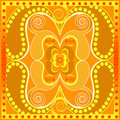 Orange tile design Stock Photography