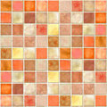 Orange Tile Mosaic Stock Image