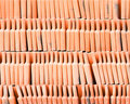 Orange tile roof Stock Photo
