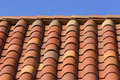Orange tile roof closeup Royalty Free Stock Images