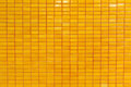 Orange tile wall Royalty Free Stock Photo