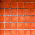 Orange tiles Stock Photography