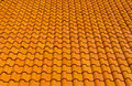 orange tiles roof for background Royalty Free Stock Photo