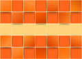Orange tiles threedimensional - illusion Royalty Free Stock Photo