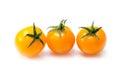 Orange tomato isolated on white background Royalty Free Stock Photo