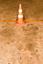 Orange traffic cones Stock Images