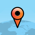 Orange Travel Map Pin Over World Globe Illustration Royalty Free Stock Photo