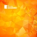 Orange triangle geometric pattern file eps format Stock Photography