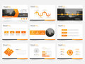 Orange triangle presentation templates, Infographic elements template flat design set for annual report brochure flyer leaflet ma