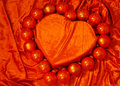 Orange Velvet Heart Royalty Free Stock Photo