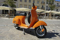 Orange Vespa Royalty Free Stock Photos