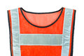 Orange vest isolated on the white background Stock Photo