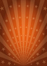 Orange vintage sunbeams Royalty Free Stock Photo
