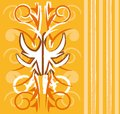 Orange wallpaper design Royalty Free Stock Photo