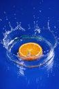 Oranžový vo vode