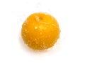 Orange with water splash photo of Royalty Free Stock Photo
