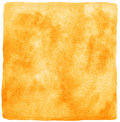 Orange watercolor background with uneven edges painted square template watercolour texture stains rough fire lava Stock Photos
