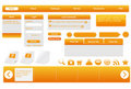 Orange web forms. Stock Photos