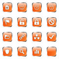 Orange web icon set 3 Royalty Free Stock Images