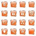 Orange web icon set 3