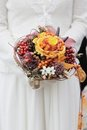 Orange wedding flowers bouquet Royalty Free Stock Image