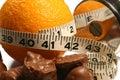 Oranžový hmotnosť strata