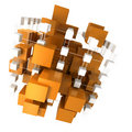 Orange and white abstract structure Royalty Free Stock Photography