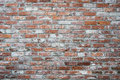 Orange and white brick wall Royalty Free Stock Photo