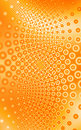 Orange and White circles. Stock Photography