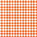 Orange White Gingham Royalty Free Stock Photos