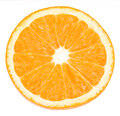 Orange on white with path Royalty Free Stock Image