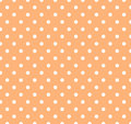 Orange with white polka dots Stock Image