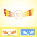 Orange wings logo w letter