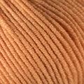 Orange wool thread ball macro closeup Royalty Free Stock Photo