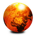 Orange world globe Royalty Free Stock Image