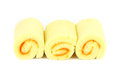 Orange yam roll with white background Royalty Free Stock Photo