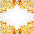 Orange yellow banner pattern background Stock Photos