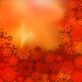Orange yellow Christmas bokeh background. EPS 8 Stock Photography