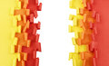 Orange yellow red ripped paper background Royalty Free Stock Photo