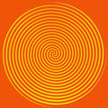 Orange and Yellow Spiral Royalty Free Stock Images
