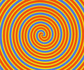 Orange and Yellow Spiral Stock Image